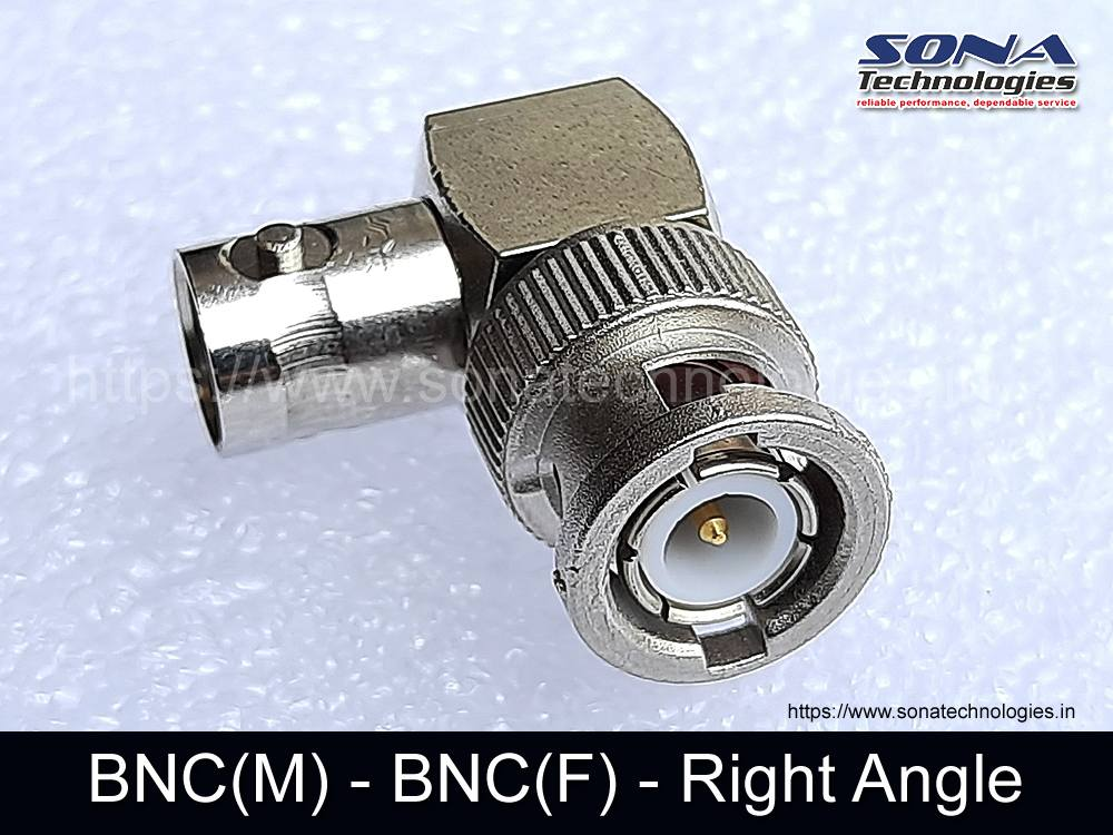 Adapter BNC(M) - BNC(F) - Right Angle