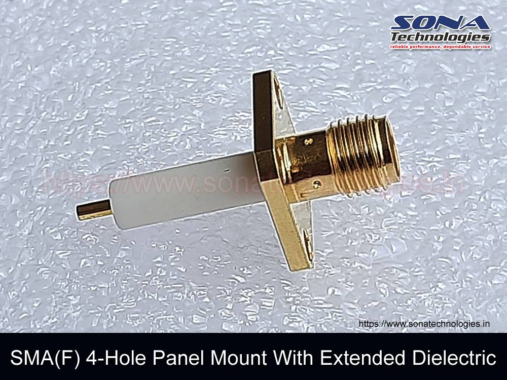 Adapter SMA(F) 4-Hole Panel Mount With Extended Dielectric - 01