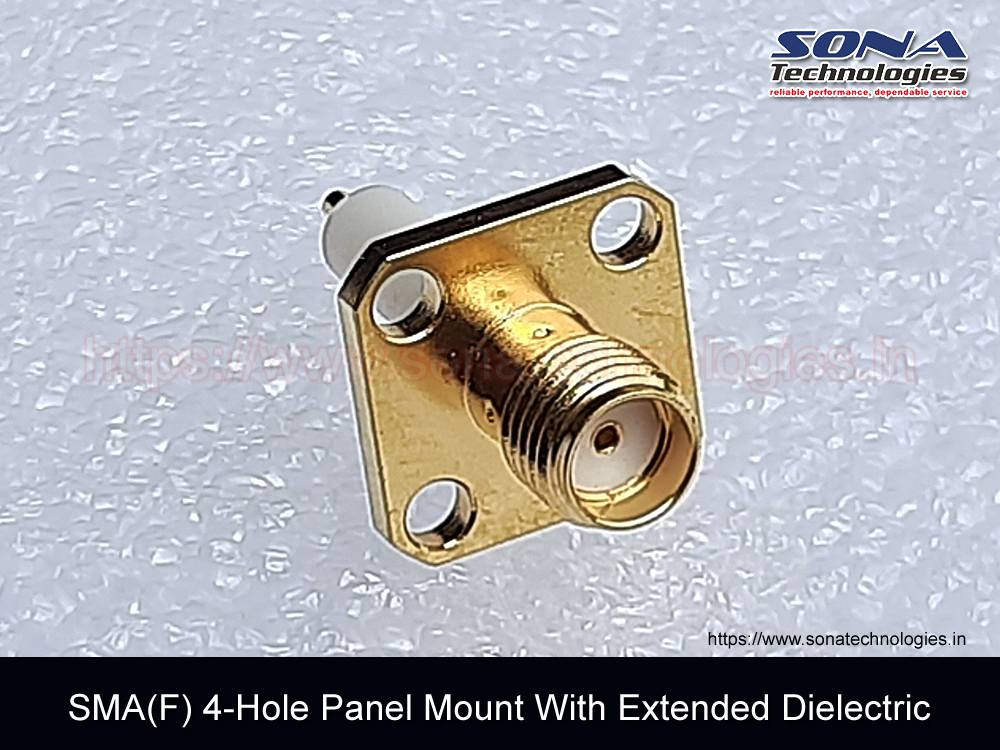 Adapter SMA(F) 4-Hole Panel Mount With Extended Dielectric